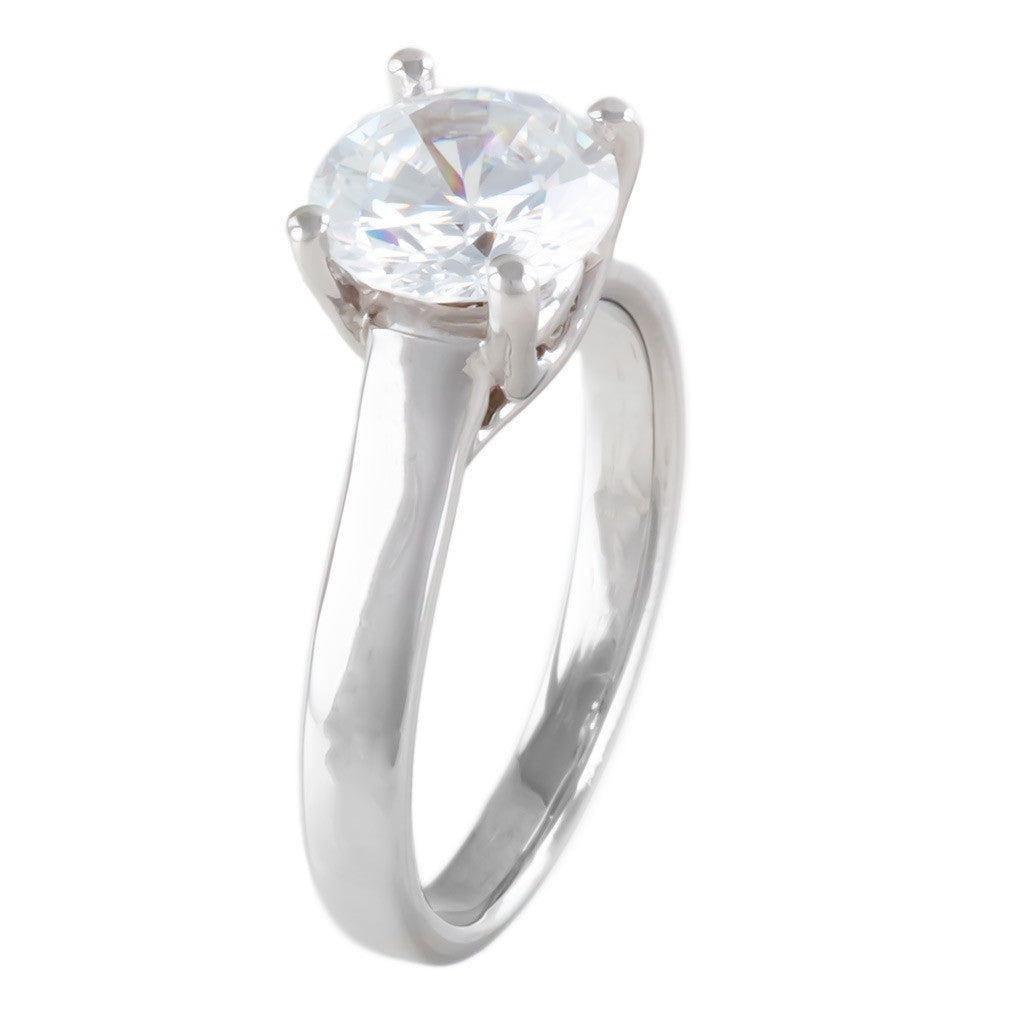 <b>FOUR-PRONG SOLITAIRE SETTING</b><br>(Center Stone Not Included)<br>by G.S. DESIGN