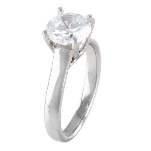 <b>FOUR-PRONG SOLITAIRE SETTING</b><br>(Center Stone Not Included)<br>by G.S. DESIGN - PERSONA JEWELRY