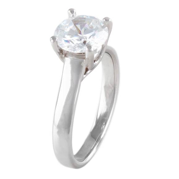FOUR-PRONG COMFORT FIT SOLITAIRE SETTING (Center Stone Not Included) - PERSONA JEWELRY
