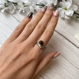 STERLING SILVER 1.30 CTW SMOKY QUARTZ BRANCH STYLE RING - PERSONA JEWELRY