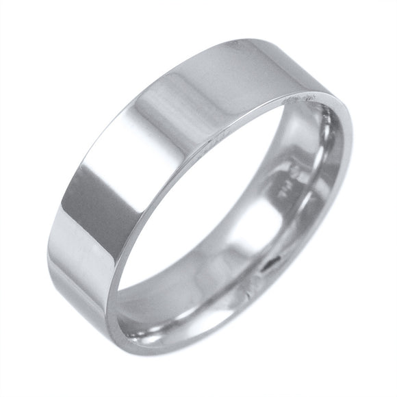 14K WHITE GOLD 6 MM BAND G.S. DESIGN - PERSONA JEWELRY