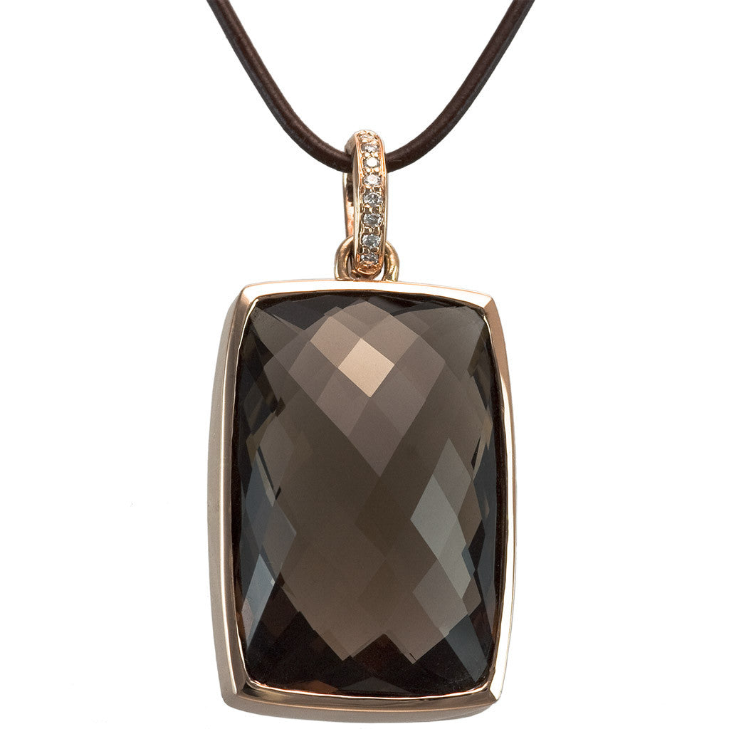 <b>SMOKEY QUARTZ PENDANT</b><br>by G.S. DESIGN