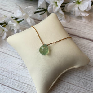 VERMEIL 9.21 CTW GREEN ONYX BRIOLETTE NECKLACE - PERSONA JEWELRY