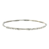 18K WHITE GOLD HANDCRAFTED DIAMOND BANGLE - PERSONA JEWELRY