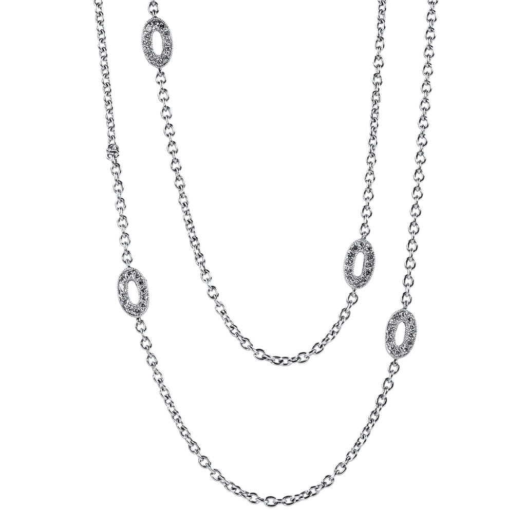 <b>OVAL DIAMOND LINK NECKLACE</b><br>by PERSONA