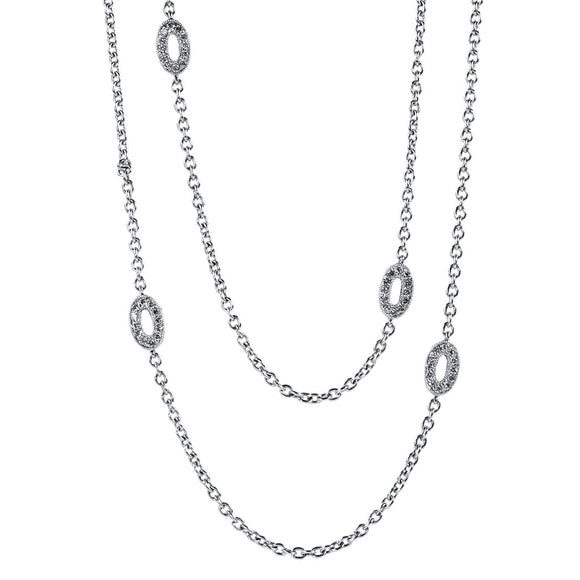 <b>OVAL DIAMOND LINK NECKLACE</b><br>by PERSONA - PERSONA JEWELRY