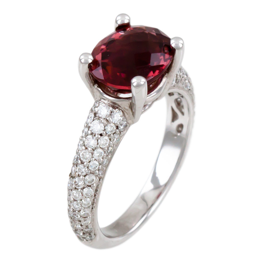 <b>TOURMALINE & DIAMOND RING</b><br>by G.S. DESIGN