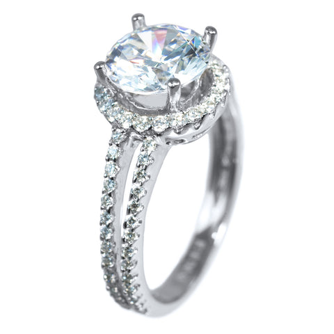 <b>SPLIT DOUBLE-ROW HALO SETTING</b><br>(Center Stone Not Included)<br>by PERSONA
