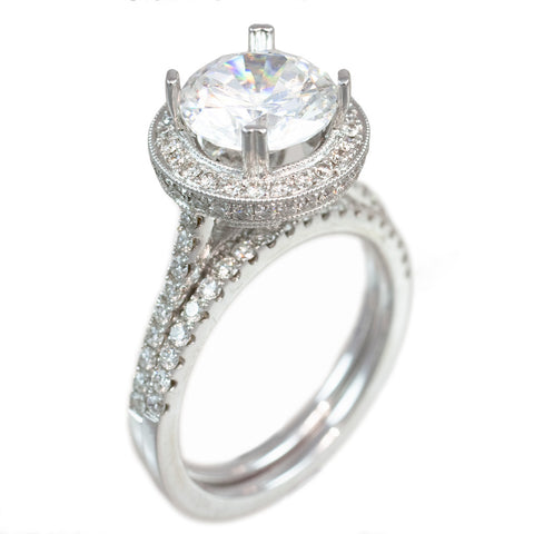 <b>WEDDING SET</b><br>(Center Stone Not Included)<br>by PERSONA