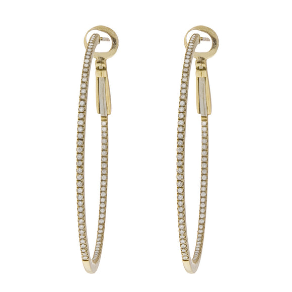 <b>INSIDE-OUT DIAMOND HOOP EARRINGS 1.25