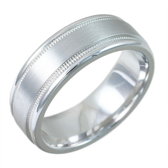 14K WHITE GOLD SWISS CUT BAND - PERSONA JEWELRY