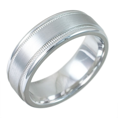 <b>WHITE GOLD SWISS CUT BAND</b><br>by G.S. DESIGN