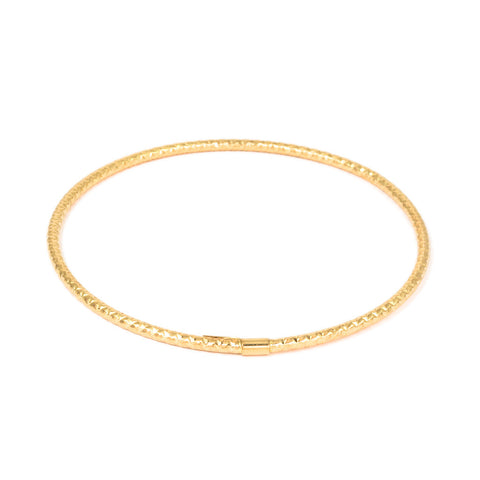 <b>TEXTURED HOLLOW BANGLE</b><br>BY G.S. DESIGN