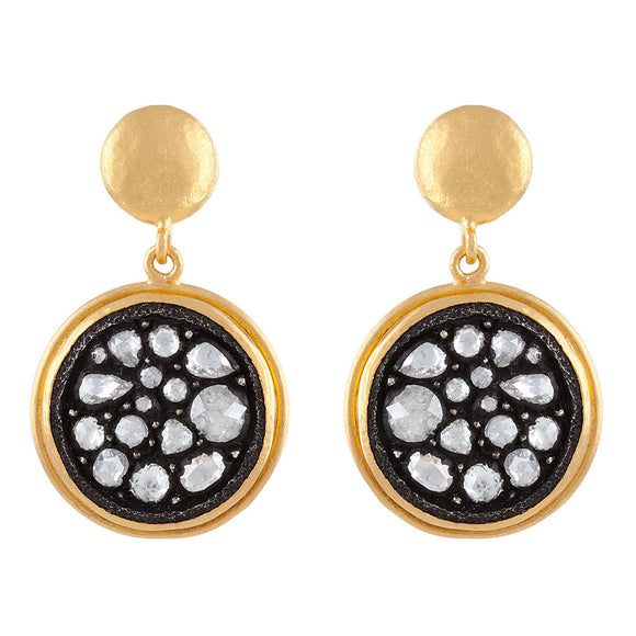 DIAMOND DISC EARRINGS - PERSONA JEWELRY