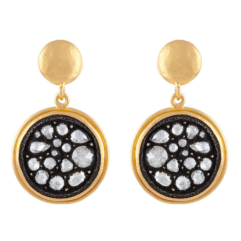 <b>DIAMOND DISC EARRINGS</b><br>by YOSSI HARARI