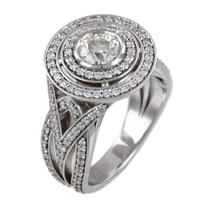 OLD MINE CUT DIAMOND IN CONCENTRIC CIRCLES RING - PERSONA JEWELRY