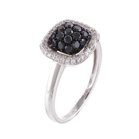 <b>BLACK & WHITE DIAMOND RING</b><br>by PERSONA - PERSONA JEWELRY