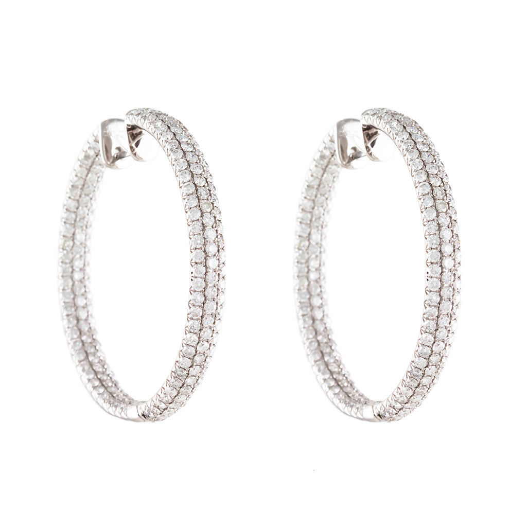 <b>INSIDE-OUT DIAMOND PAVE HOOP EARRINGS</b><br>by PERSONA