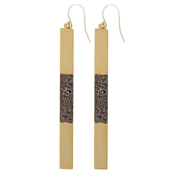 GOLD & BLACK DIAMOND EARRINGS - PERSONA JEWELRY