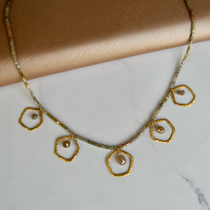18K YELLOW GOLD 35.63 CTTW DIAMOND NECKLACE - PERSONA JEWELRY