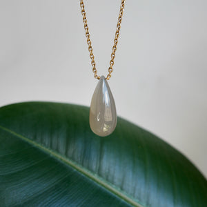 VERMEIL STERLING SILVER MOONSTONE TEARDROP NECKLACE - PERSONA JEWELRY