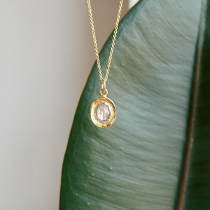 STERLING SILVER VERMEIL SLICED DIAMOND PENDANT - PERSONA JEWELRY