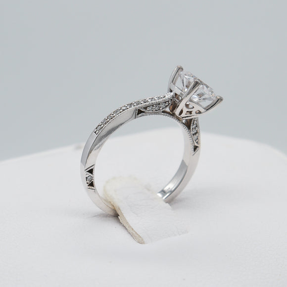 CUSTOMIZABLE 14KW 0.22 CTTW DIAMOND ENGAGEMENT RING