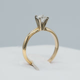 14K YELLOW GOLD 0.65 CTW ISI2 4-PRONG ROUND BRILLIANT CUT DIAMOND RING