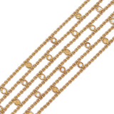 18K YELLOW GOLD DIAMOND 6-STRAND CHOPARD VINTAGE BRACELET - PERSONA JEWELRY