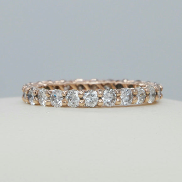 *rose gold common prong diamond eternity - PERSONA JEWELRY