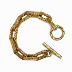 18K YELLOW GOLD OVAL ROPE LINK BRACELET - PERSONA JEWELRY