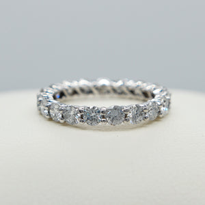 14K WHITE GOLD COMMON PRONG SET 2.10 CTTW DIAMOND ETERNITY BAND - PERSONA JEWELRY