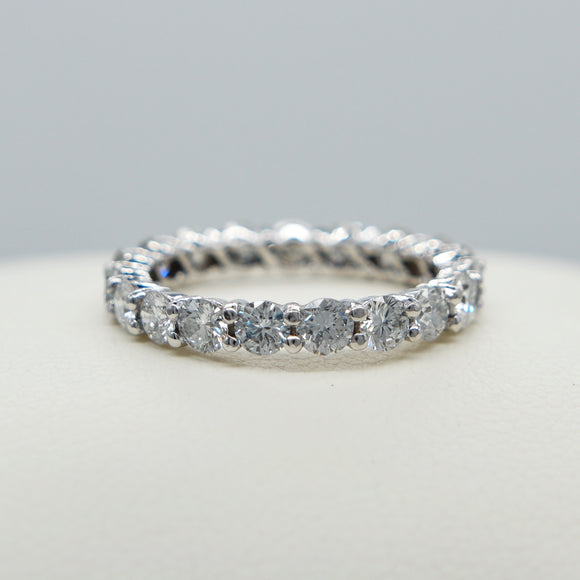 14K WHITE GOLD COMMON PRONG SET 2.10 CT.T.W. DIAMOND ETERNITY BAND - PERSONA JEWELRY
