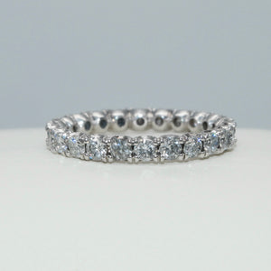 "18K WHITE GOLD ""U"" PRONG SET 1.40 CTW DIAMOND ETERNITY BAND - PERSONA JEWELRY"