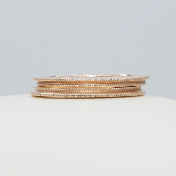 *rose gold MILGRAIN border ring - PERSONA JEWELRY