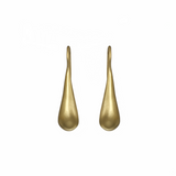 14K YELLOW GOLD SOLID TEAR DROP HOOK EARRINGS - PERSONA JEWELRY