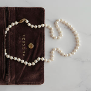 5 MM ROUND WHITE  PEARL NECKLACE - PERSONA JEWELRY