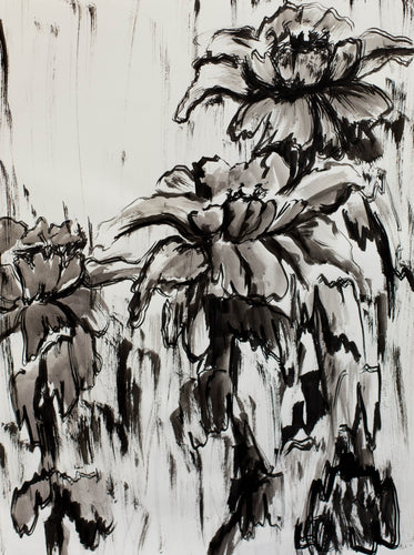 Original Peonies Drawing #102