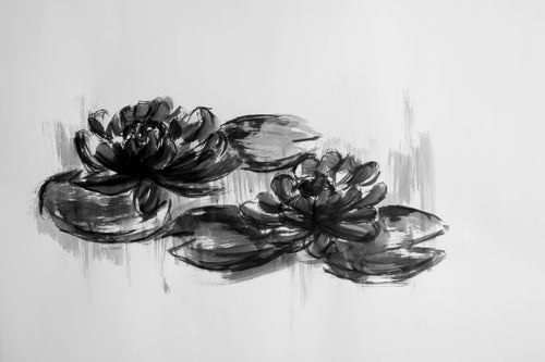 Original Water Lilies Drawing #104
