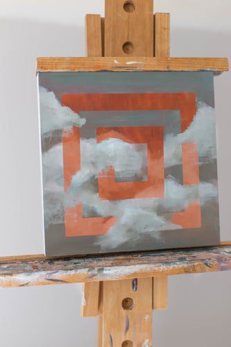Original Mini Fragmented Clouds Oil Painting #003