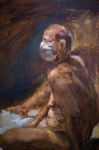 A 2020 Nude Figure Study Original Oil Painting