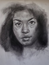 Load image into Gallery viewer, Original Charcoal Drawing of a Woman