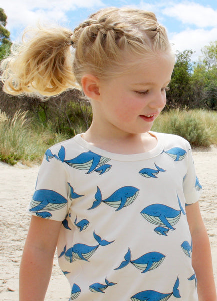 Whale Dreaming organic cotton tee shirt