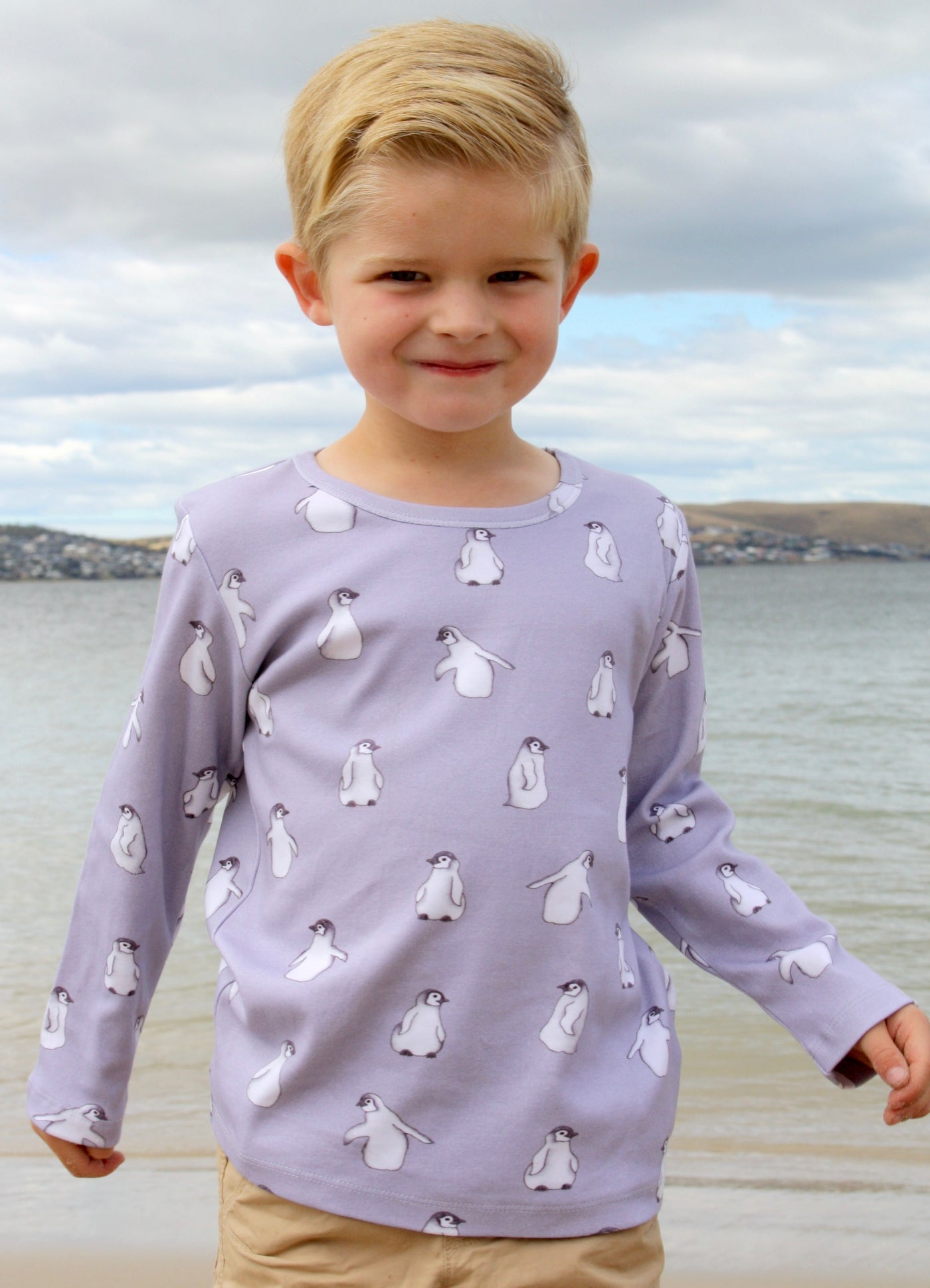 Penguin organic cotton long sleeve tee shirt