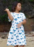 Whale Dreaming organic cotton dress