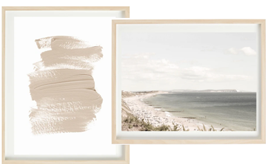 Textured Brushstroke and Beach Day