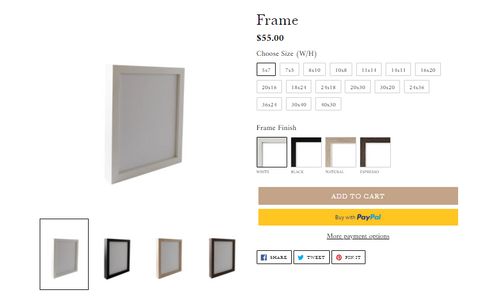 Collection Prints Frames