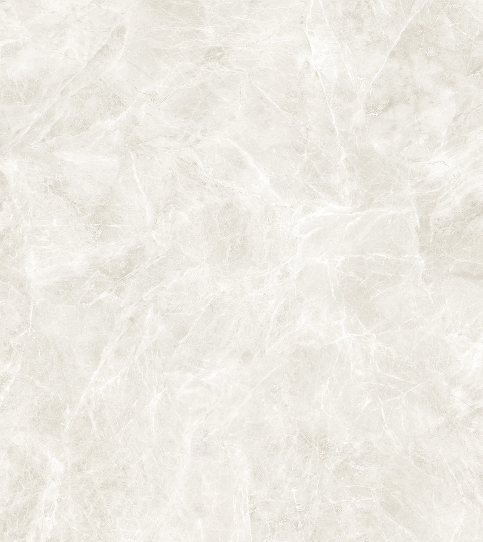 XXL-Fliese im Format 3200x1600mm, in Diamond Cream Marmor Optik.