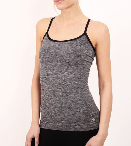 Christy- Grey Marl Cami With Mesh Back