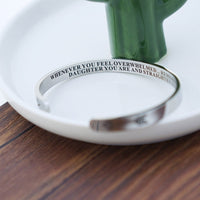 Straighten Your Crown Inspirational Bracelet Stainless Steel